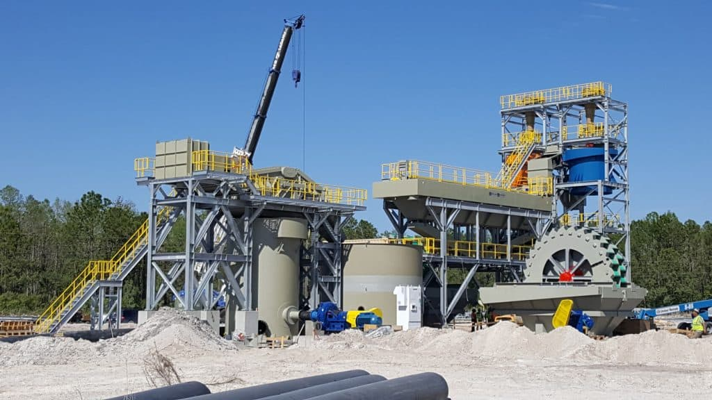 sand wash and processing plant