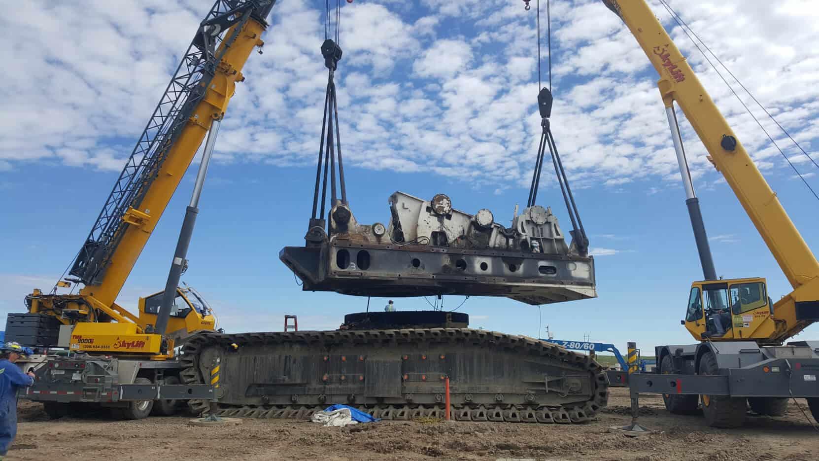 international dragline relocation