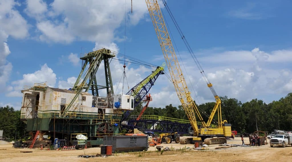 comprehensive dragline relocation