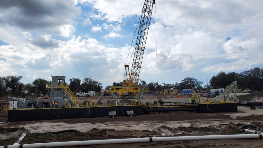 deep water dredge field install