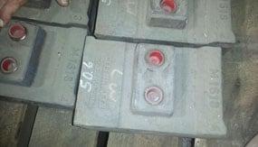 "M1618 ISC 66"" 2 BOLT DOUBLE POCKET SHOE ORIGINAL P#6018DX-3 50# , For Crusher - Vertical Shaft Impactor"