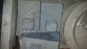 """CJ4505 CANICA 40 18"""" TABLE SHOE 12.5#, For Crusher - Vertical Shaft Impactor"""