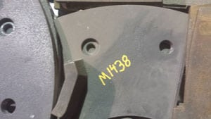 M1438 ISC 77-82 VSI TABLE LINER 5 SHOE SET 30 #, For Crusher - Vertical Shaft Impactor